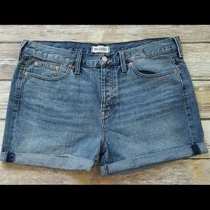 Madewell Cuffed High Rise Button Fly Jean Shorts